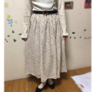 SM2 - サマンサモスモス お花刺繍 スカート