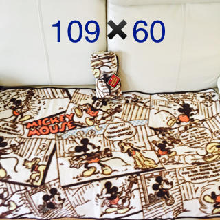 ディズニー(Disney)のミッキー☆コミック柄フリースブランケット(布団)