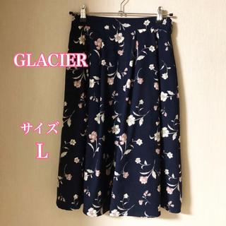 【美品】GLACIER  花柄 秋冬スカート