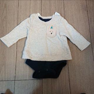 アカチャンホンポ(アカチャンホンポ)の赤ちゃん本舗 ロンパース 長袖  80(ロンパース)