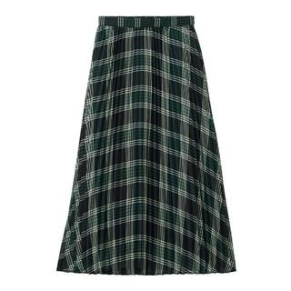 ジーユー(GU)の【新品】 GU チェックプリーツロングスカートAM (ロングスカート)