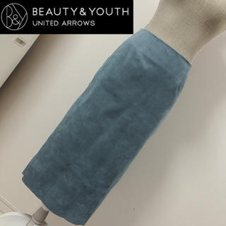BEAUTY&YOUTH UNITED ARROWS - ユナイテッドアローズ スウェード調タイトスカート ブルー