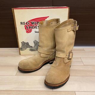 レッドウィング(REDWING)のレッドウィング 8268 エンジニア 8D スエード ベージュ 26cm(ブーツ)