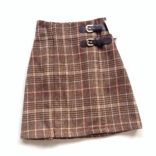 INGNI - INGNI チェック台形スカート