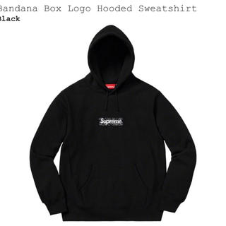 Supreme - Supreme Bandana Box Logo Hooded パーカー 黒