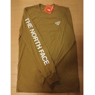 THE NORTH FACE - USAモデルノースフェイス袖ロゴ〔有り〕ブリティッシュカーキ長袖Tシャツ