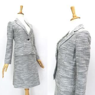 ナチュラルビューティーベーシック(NATURAL BEAUTY BASIC)のNATURAL BEAUTY BASIC 微ラメツイード◎スカートスーツ(スーツ)