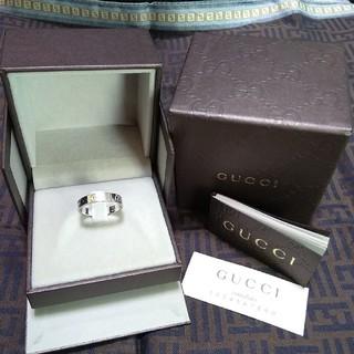 グッチ(Gucci)の特価値下! 未着品 グッチアイコンリング GUCCI 18金 K18WG(リング(指輪))
