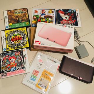 任天堂 - Nintendo 3DS  LL 本体ピンク/ホワイト おまけ