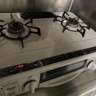 リンナイ(Rinnai)のRINNAI 2口ガスコンロ グリル付き LPガス用(調理機器)