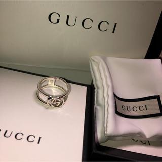 Gucci - GUCCI インターロッキングGワイド オープンバンド サイズ23号メンズリング