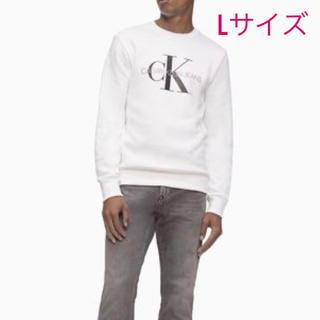 カルバンクライン(Calvin Klein)の新品未使用☆カルバンクラインジーンズ ロゴプリントトレーナー ホワイト L(スウェット)