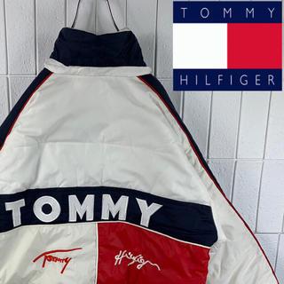 トミーヒルフィガー(TOMMY HILFIGER)のトミーヒルフィガー ナイロンジャケット 中綿入り ビッグロゴ サイドデザイン(ナイロンジャケット)