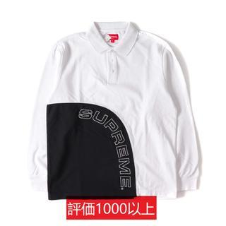 シュプリーム(Supreme)のSupreme Corner Arc L/S Polo 白 L(ポロシャツ)