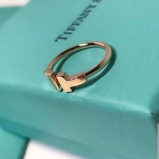 Tiffany & Co. - TiffanycoワイヤーTリング箱つき人気リング