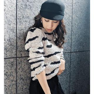 rienda - rienda  Zebra Pattern Knit TOP