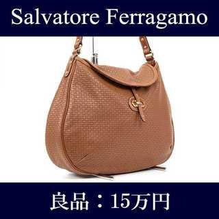 Salvatore Ferragamo - 【限界価格・送料無料・良品】フェラガモ・ショルダーバッグ(J012)