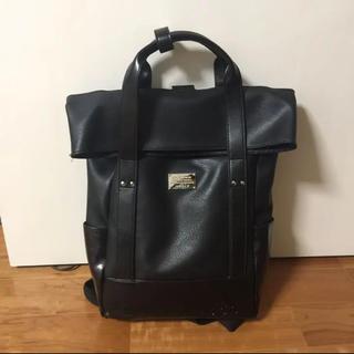 D.KERRY リュック バックパック ハンドバッグ 2way 黒 ブラック(リュック/バックパック)