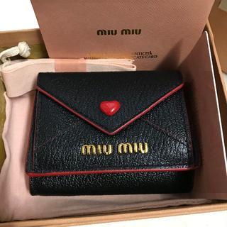 miumiu - miumiu ミュウミュウ 二つ折り財布