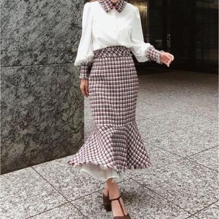 エイミーイストワール(eimy istoire)のマーメイドデザインツイードスカート(ロングスカート)