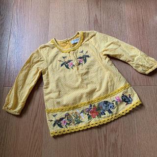 ネクスト(NEXT)のNEXT  刺繍ブラウス  サイズ6〜9mths ネクスト 長袖(シャツ/カットソー)