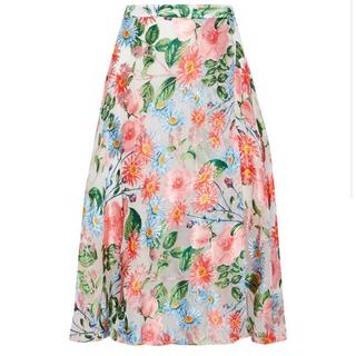 バーニーズニューヨーク(BARNEYS NEW YORK)の65%OFF! アリスアンドオリビア 花柄 シルク 混 スカート(ひざ丈スカート)