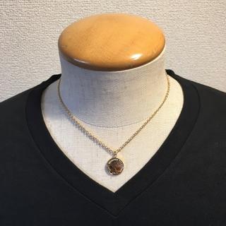 ショート コインネックレス ゴールド メンズ ネックレス 40cm