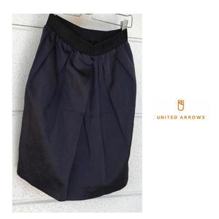 ユナイテッドアローズ(UNITED ARROWS)のユナイテッドアローズ トリアセテートリネン ひざ丈 タック スカート(ひざ丈スカート)