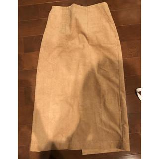 ティティベイト(titivate)の新品タグ付 ur's コーデュロイタイトスカート(ロングスカート)