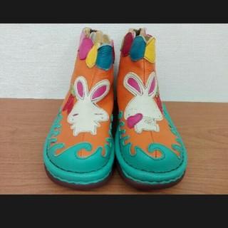Estation エスタシオン TG103 A ショートブーツ ウサギモチーフ(ブーツ)