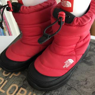 ザノースフェイス(THE NORTH FACE)のザノースフェイス ヌプシ ブーツ 19センチ レッド赤 キッズ(ブーツ)