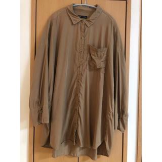 ザラ(ZARA)のZARA ビックシャツ オーバーサイズ ブラウン 茶 シャツワンピース ザラ  (シャツ/ブラウス(長袖/七分))
