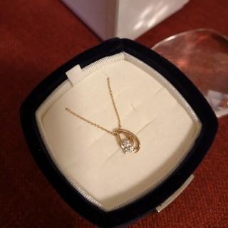 4℃ - 4℃ K18 ピンクゴールド しずく型ネックレス