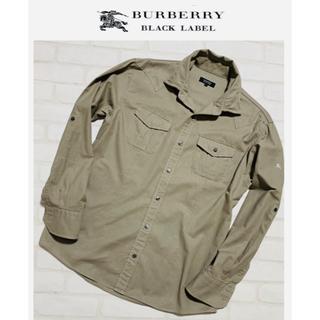 BURBERRY BLACK LABEL - バーバリー ブラックレーベル/デザイン シャツ ワイヤー入り