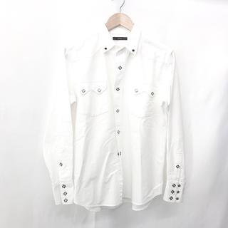 ベドウィン(BEDWIN)のBEDWIN ベドウィン メンズ ホワイトシャツ 48 L 白 日本製 おしゃれ(シャツ)