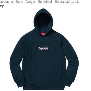 Supreme - Lサイズ Supreme Bandana Box Logo navy