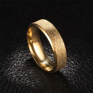 極太 ラフリング   ステンレスリング ゴールドリング ステンレス指輪
