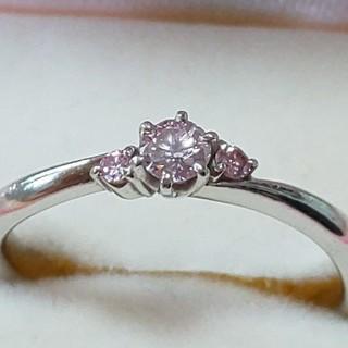 天然ピンクダイヤモンドリング