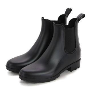 レディースサイドゴアレインブーツ(ブラック)Mサイズ 18033(レインブーツ/長靴)