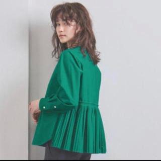 UNITED ARROWS - kaon カオン バッグプリーツ ブラウス シャツ グリーン 緑 美品 1
