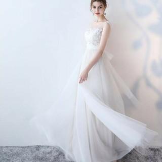 Mサイズ ホワイト ウエディングドレス(ウェディングドレス)