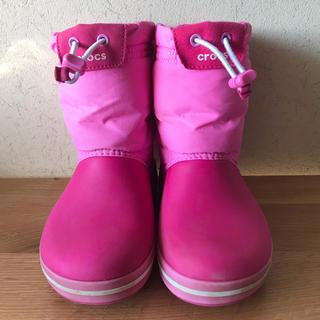 crocs - ★クロックス クロックバンド ロッジポイント ブーツ ピンク 18.5cm ★