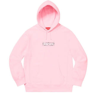 シュプリーム(Supreme)のL Supreme Bandana Box Logo Hooded pink (パーカー)