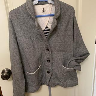 フェリシモ(FELISSIMO)のサニークラウズ 杢グレーのジャケット LL(テーラードジャケット)