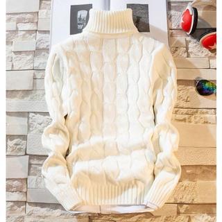 メンズ ニットセーター  タートルネックカジュアル トップス(ニット/セーター)
