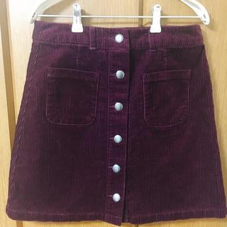 LOWRYS FARM - ローリーズファーム コーデュロイ台形スカート ボルドー Mサイズ