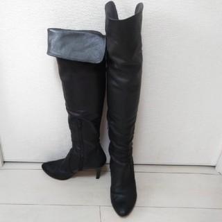 ダイアナ(DIANA)のボディードレッシング ニーハイブーツ ロングブーツ 23.5cm ブラック(ブーツ)