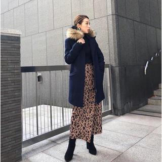 リエンダ(rienda)のリエンダ  Faux Fur Wool フーディーCT rienda(ロングコート)