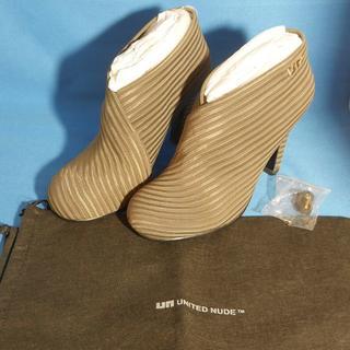 新品 united nude ブーツ ブーティ Fold Hi 37 ブラウン(ブーティ)