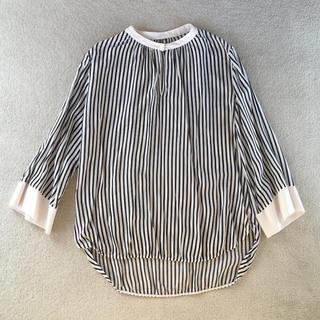 Demi-Luxe BEAMS - ストライプ とろみシャツ 36 美品